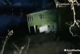 Video captures dramatic moment a landslide crumbles a Tennessee home