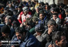 ۳۰هزار معتاد متجاهر در پایتخت جمع آوری شدند