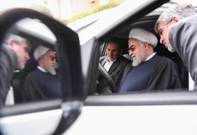 (تصاویر) روحانی چهار خودرو تولید داخل را تست کرد