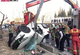 تصادف خونین در اتوبان امام علی +عکس