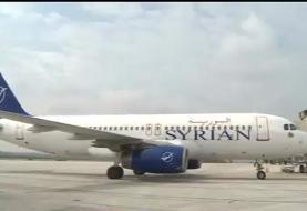 نخستین هواپیمای مسافربری در فرودگاه حلب به زمین نشست