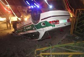 واژگونی مرگبار خودرو پلیس ایران