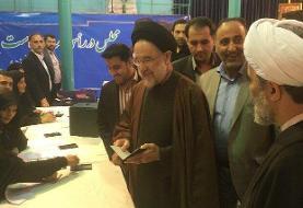 رئیس دولت اصلاحات رای خود را به صندوق انداخت