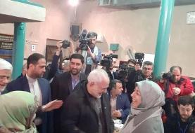ظریف در حسینیه جماران رای داد