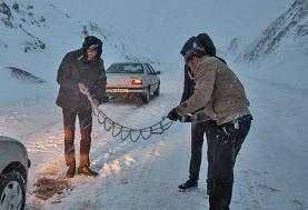 بارش برف و باران در جاده های ۱۶ استان