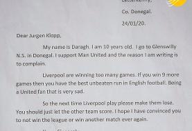 (عکس) پاسخ جالب یورگن کلوپ به نامه پسربچه ۱۰ ساله
