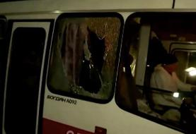 A crowd in Ukraine threw bricks at buses carrying coronavirus evacuees from Wuhan to quarantine