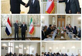 وزیر خارجه هلند با ظریف دیدار کرد/عکس