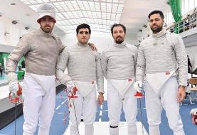 سابریستهای ایران سهمیه المپیک تیمی را قطعی کردند