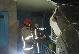 آتشسوزی در سردخانه و انباری یک مرکز درمانی در تهران