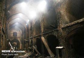 ۴۰ واحد تجاری در بازار بابل در آتش مهیب سوخت