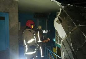 آتشسوزی در یک مرکز درمانی در خیابان شریعتی تهران