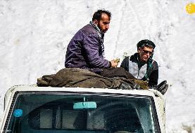 (تصاویر) شرایط سخت کولبران کردستان در زمستان