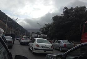 ترافیک در هراز سنگین شد/ تهرانیها در حال سفر به استانهای شمالی!