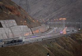 (تصاویر) افتتاح آزادراه تهران-شمال با حضور روحانی