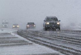 پلیس راهور: محورهای مواصلاتی ۱۴ استان درگیر برف و باران