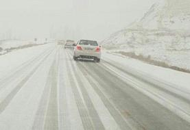 برف و کولاک جاده هراز را بست