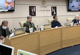 ببینید | علی ربیعی با ماسک در پنجمین جلسه ستاد ملی مدیریت و مقابله با کرونا به ریاست جهانگیری