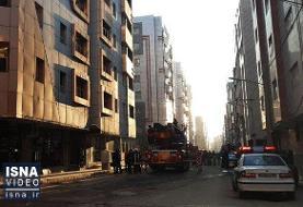 ویدئو / مهار آتشسوزی یک مجتمع مسکونی در قم