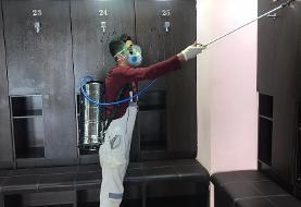 عکس /مبارزه با کرونا در ورزشگاه آزادی