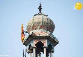 (تصاویر) آتش زدن یک مسجد توسط هندوها