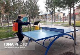 ضد عفونی کردن معابر شهری گرمسار برای مقابله با کروناویروس +تصاویر
