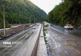 ترافیک روان در اکثر محورهای کشور/بارش باران در جادههای ۵ استان