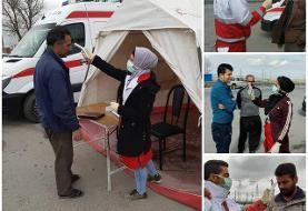 پست های تب سنجی و غربالگری هلال احمر کردستان به ۸ پایگاه افزایش یافت