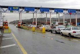 آزادراه تهران-کرج ترافیک نیمه سنگین دارد