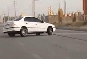 ببینید | لحظه هولناک تصادف سمند بهخاطر حرکات ناشیانه راننده!