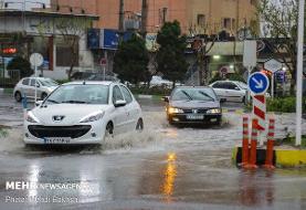 تداوم بارندگی ها در کشور/آبگرفتگی معابر شهری
