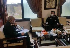 دیدار دبیر مجمع تشخیص مصلحت نظام با سرلشکر سلامی