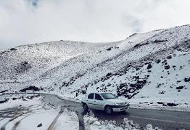 بارش برف و باران در جادههای ۱۶ استان | محور هراز تا اطلاع ثانوی مسدود شد