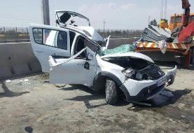 واژگونی سواری اچ سی کراس/ در این حادثه به کسی آسیبی نرسید