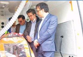 تجهیز آمبولانس های دانشگاه به برانکارد فشار منفی ویژه انتقال بیماران کرونایی