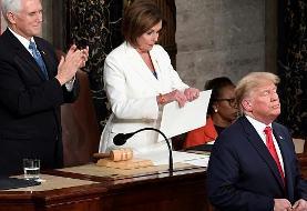 واکنش ترامپ به انتقاد رئیس مجلس نمایندگان: نانسی پلوسی توله سگ مریض است