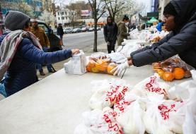 کرونا؛ افزایش مراجعه به خیریه های اهدای غذا در نیویورک