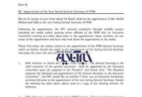 اختصاصی خبرآنلاین؛ نامه رسمی AFC به فدراسیون فوتبال: انتصاب نبی غیرقانونی است/عکس