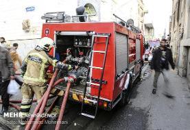 انفجار و آتش سوزی ساختمان مسکونی در الهیه