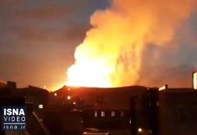 ویدئو / انفجار خط لوله گاز صادراتی ایران به ترکیه