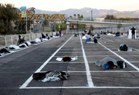 ۱۵۰ هزار اتاق خالی در هتلهای وگاس و بیخانمانهای آمریکا در پارکینگ