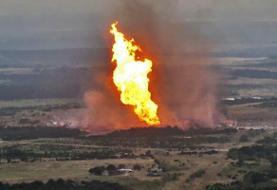 فیلم | انفجار در خط انتقال صادرات گاز ایران به ترکیه