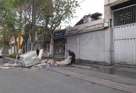 انتشار بی وقفه آلودگی |  زباله گردها همچنان در شهر پرسه می زنند