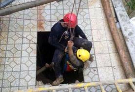 نجات جان پیرزن ۷۰ ساله از داخل چاه