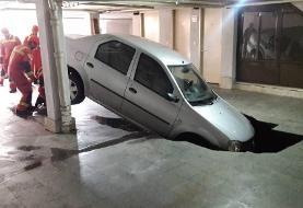 فروکش کردن پارکینگ آپارتمان خودروی L۹۰ را بلعید
