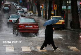 بارش باران در محورهای استان البرز