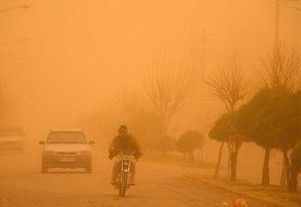 گرد و غبار در شرق کرمان