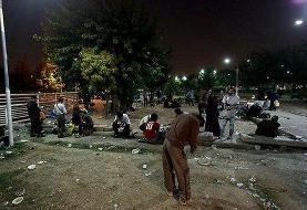 نگرانی از حضور گسترده معتادان در محله هرندی / شبهای شلوغ شوش