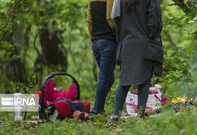 (تصاویر) بیتوجهی به کرونا؛ جوجه، قلیان و ... در پارک جنگلی