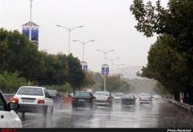 بارش باران در جاده های ۶ استان کشور